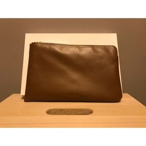 Genuine Leather Auxiliary Clutch